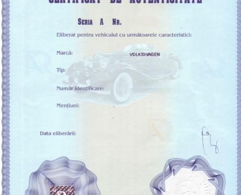 Certificat Autenticitate RAR